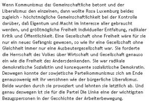 Zielbeschreibung anhand von Lötzschs interpretation von Rosa Luxemburg